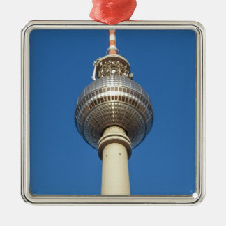 Fernsehturm Television Tower Berlin Silver-Colored Square Decoration