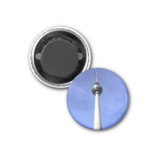 fernsehturm tower round 3 cm round magnet