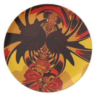 Ferocious – Amber & Orange Creature Dinner Plates