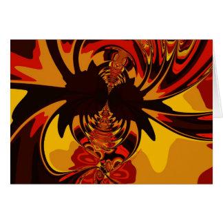 Ferocious – Amber & Orange Creature Greeting Card