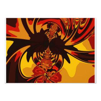 "Ferocious – Amber & Orange Creature 5"" X 7"" Invitation Card"