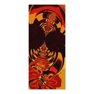 "Ferocious – Amber & Orange Creature 4"" X 9.25"" Invitation Card"