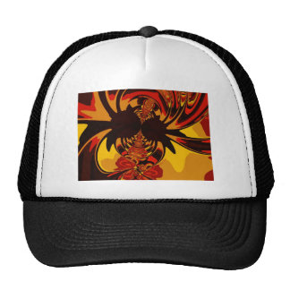 Ferocious – Amber & Orange Creature Mesh Hats
