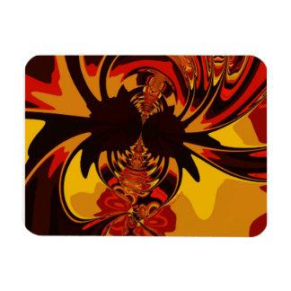 Ferocious – Amber & Orange Creature Vinyl Magnet