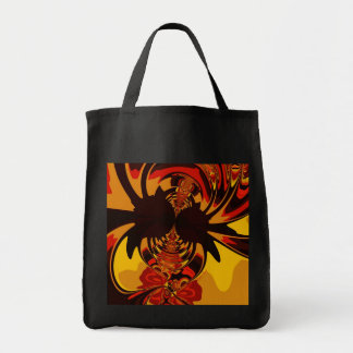 Ferocious – Amber & Orange Critter Grocery Tote Bag