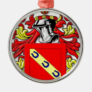 Ferrara Coat of Arms Silver-Colored Round Decoration