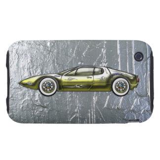 Ferrari Sports Car Custom Gold and Silver Tough iPhone 3 Cover
