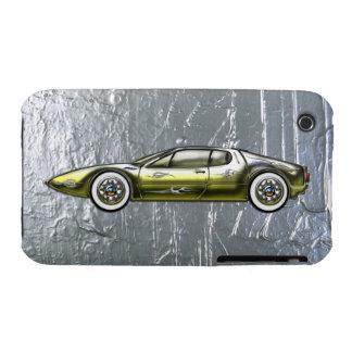 Ferrari Sports Car Custom Gold and Silver iPhone 3 Case-Mate Case
