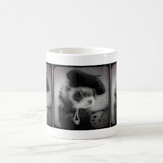 Ferret as Artist Basic White Mug