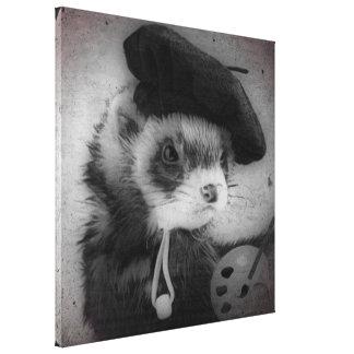 Ferret as Artist Canvas Print