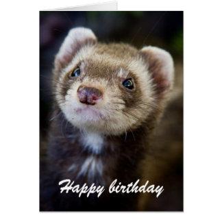 Ferret birthday greeting card