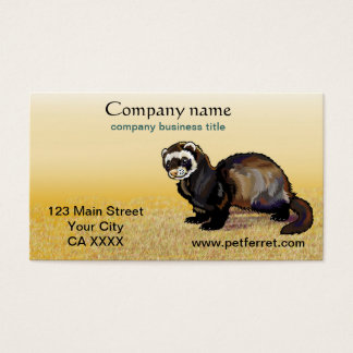 ferret business card