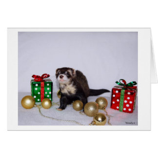 Ferret Christmas Card