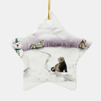 Ferret Christmas ornament