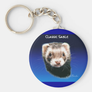 Ferret Classic Sable Key Ring