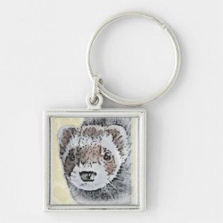 Ferret Cute Picture Key Ring