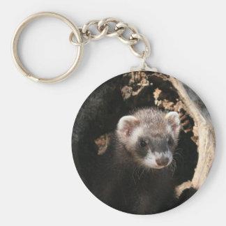 Ferret Face Key Ring