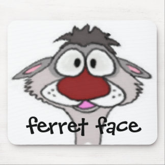 Ferret Face Mousepad
