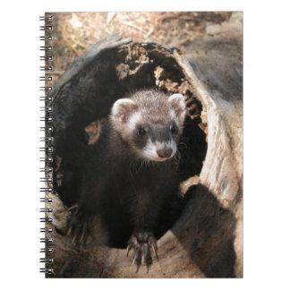 Ferret Face Spiral Notebook