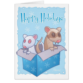 Ferret Holiday Card