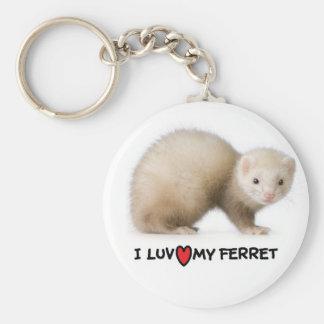 """Ferret Keychain """"I love my Ferret"""""""