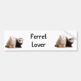 Ferret Lover Car Bumpersticker Bumper Sticker