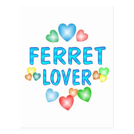 FERRET LOVER POSTCARD