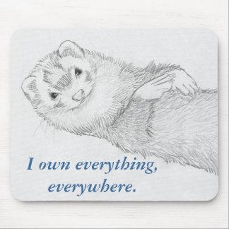 Ferret Mousepad - Pandora Owns