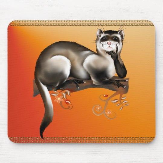Ferret On A Branch Mousepad