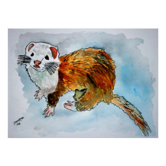 ferret painting pet painting art poster prints