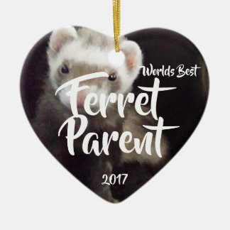 Ferret Parent Christmas Ornament