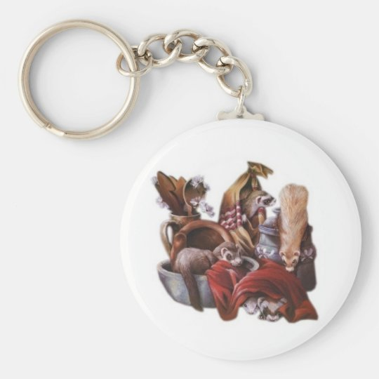 ferret play key ring