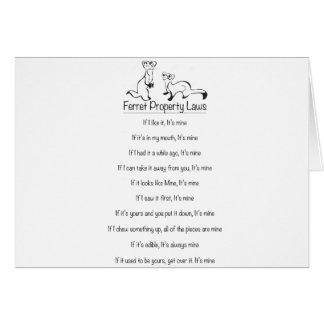 Ferret Property Laws Card