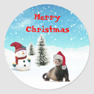 ferret santa stickers