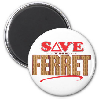 Ferret Save 6 Cm Round Magnet
