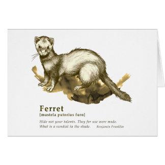 Ferret - sepia カード