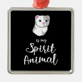 Ferret Spirit Animal Ornament Square