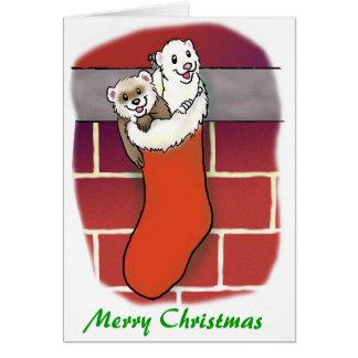 Ferret Stocking Stuffers Greeting Card