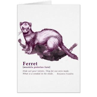 Ferret - wine カード