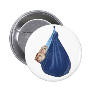 Ferrets In A Sleeping Bag Button