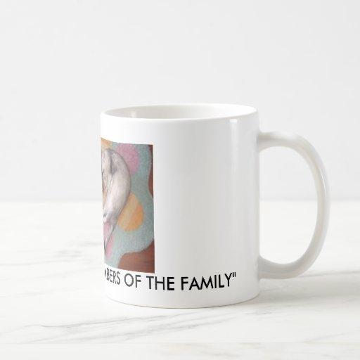 """""""FERRETS, LOVING MEMBERS OF THE FAMILY"""" BASIC WHITE MUG"""