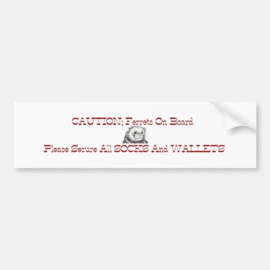 Ferrets On Board Bumper Sticker