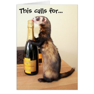 Ferrety Celebration Card