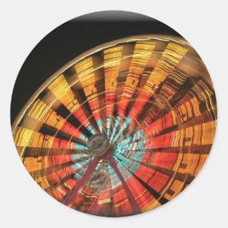ferris wheel 10 2007 round sticker