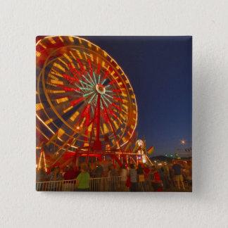 Ferris wheel at dusk at the Northwest Montana 15 Cm Square Badge