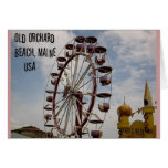 Ferris Wheel at Palace Playland Old Orchard Beach Card