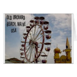 Ferris Wheel at Palace Playland Old Orchard Beach Cards