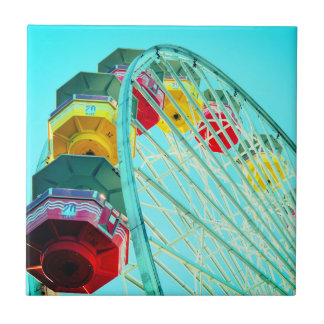 Ferris Wheel at Santa Monica Pier, California Tile