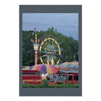 Ferris Wheel at the Carnival Poster