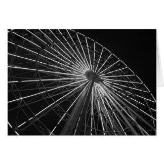Ferris Wheel B&W Greeting Card
